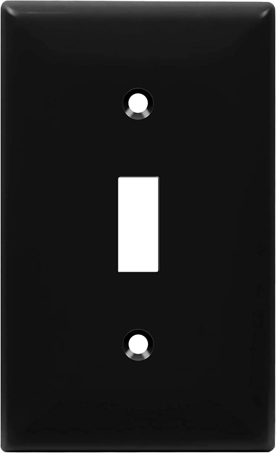 Enerlites Toggle Light Switch Wall Plate Standard Size 1 Gang 4 50 X 2 76 Unbreakable Polycarbonate Thermoplastic 8811 Bk Black