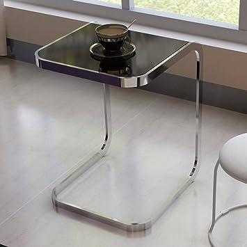 Amazon De D L Tempered Glass C Form Beistelltisch Moderne Einfache
