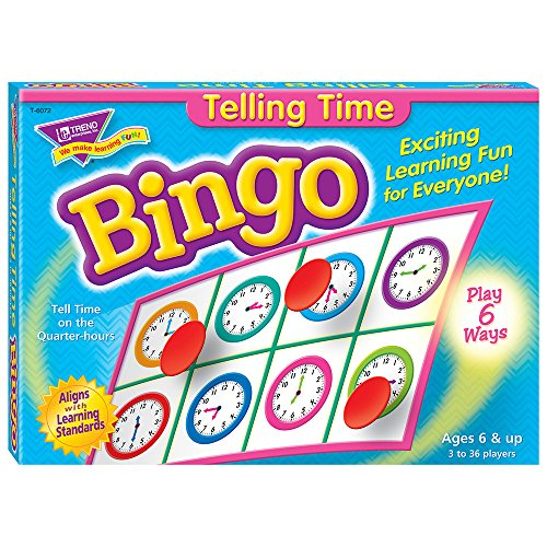 Trend Enterprises T6072 Young Learner Bingo Game, Tell Time