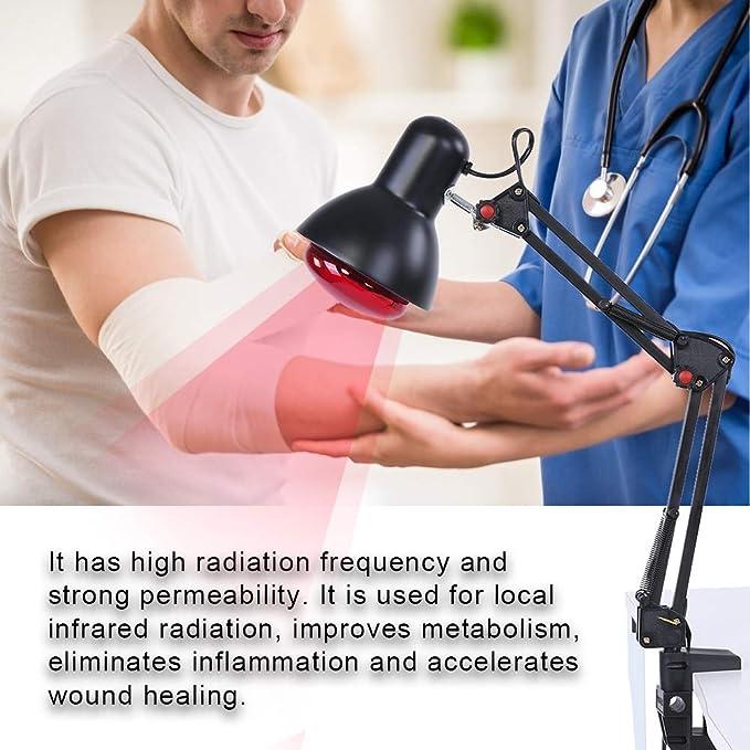Lampada a infrarossi per la cura del calore sollievo dal dolore a infrarossi regolabile per il riscaldamento del sollievo dal calore per il dolore ai muscoli posteriori della schiena EU