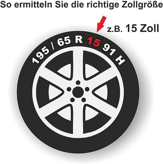 Universal Radzierblende Gtx Schwarz 15 Zoll Für Viele Fahrzeuge Passend Auto