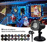 Christmas Decoration, Halloween Projector, 12 Mode Rotating Projector Spotlight, Waterproof LED Landscape Light Outdoor Garden Wall, Decorative Christmas Birthday Party
