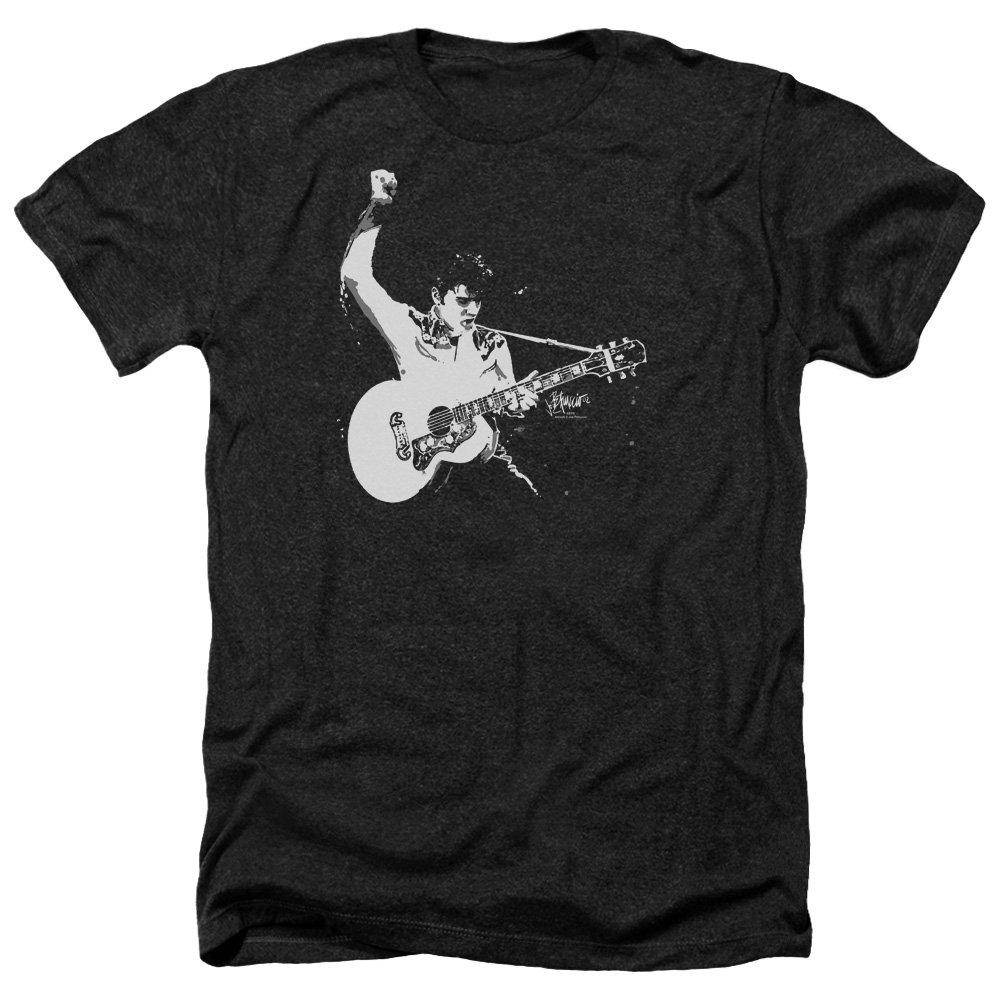 Elvis Presley Guitar Man Pose Legend Classic Music Adult Heather 2630 Shirts
