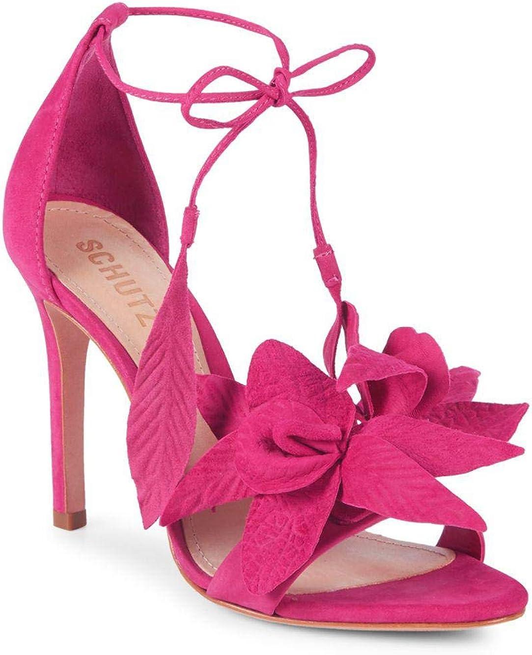 SCHUTZ Thainy Bright Rose Pink Suede
