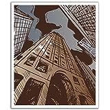 J.P. London POSLT2233 uStrip Lite Removable Wallpaper Decal Sticker Mural Gotham City Skyline, 19.75-Inch X 24-Inch