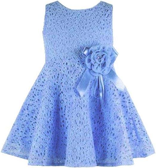 Toddler Baby Girls Sleeveless Harness Backless Bow Dresses Jumper Skirt Sundress