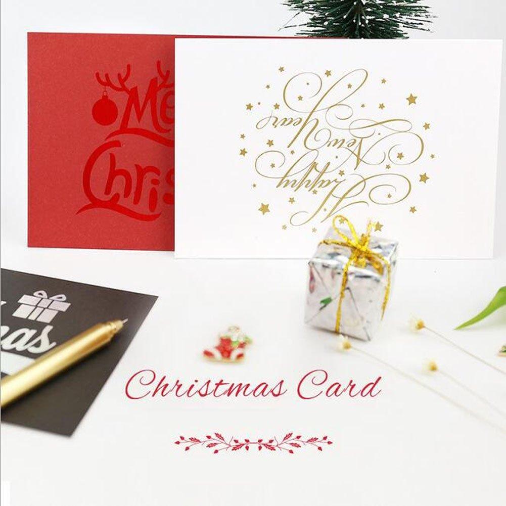 Christmas Winter Holiday Family Greeting Cardsred Black White Laser