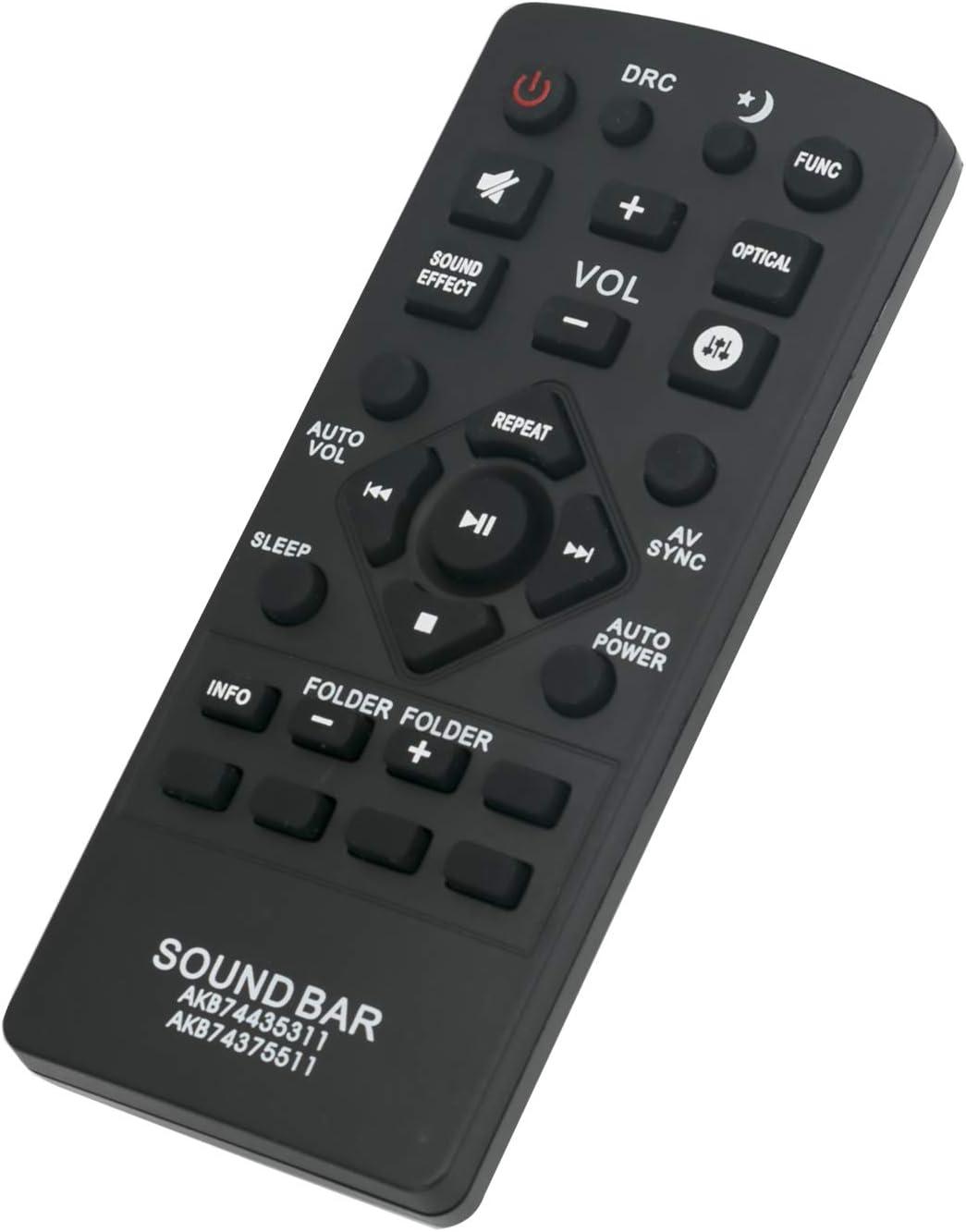 ALLIMITY AKB74435311 Reemplace el Mando a Distancia por LG Sound Bar LAP250H LAS450H LAS455H LAS550H