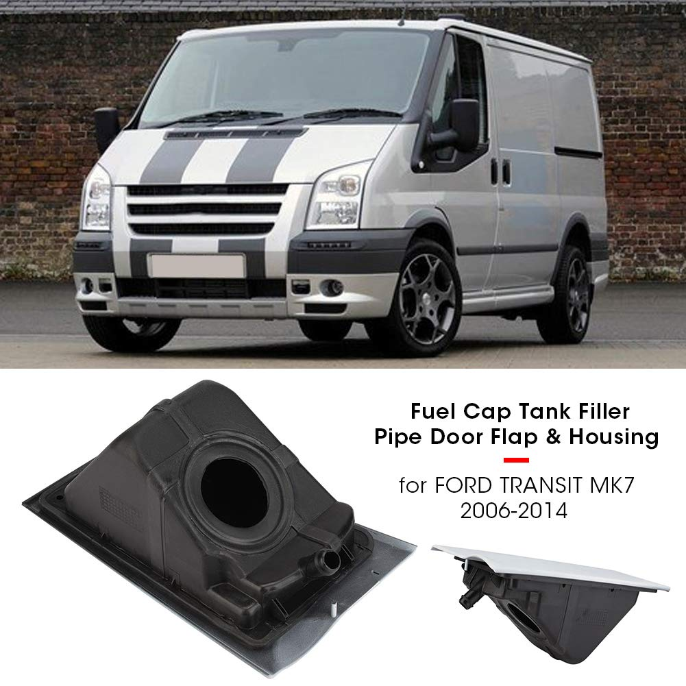 Aramox Fuel Tank Housing,Door Flap Housing Fuel Cap Tank Filler Pipe Door Flap /& Housing  Tank Housing for TRANSIT MK7 2006-2014