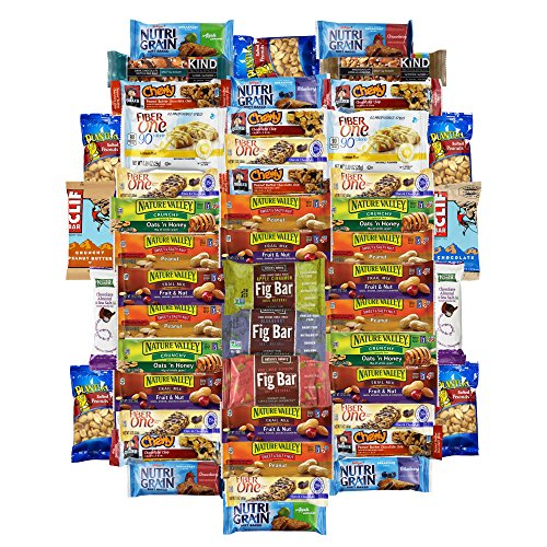 Healthy Office Bars & Snacks Super Variety Pack Bulk Sampler (Care Package 50 Count)