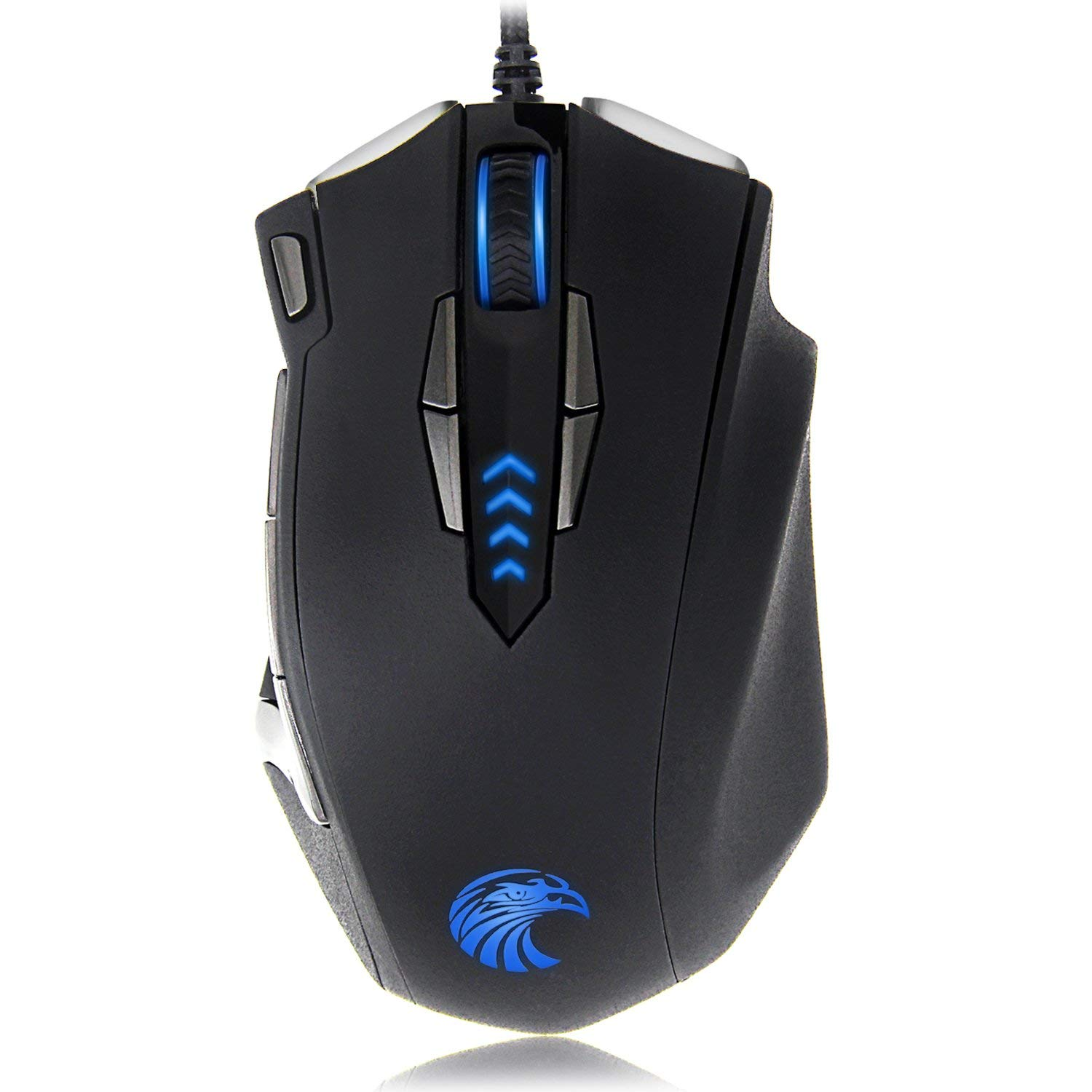 Z-7900 Gaming Mouse Wired, 13 Programmable Buttons 8 5 Side Buttons , RGB Backlit, Marco, 10000 DPI Adjustable, Comfortable Grip Ergonomic Optical Gaming Mice with Tunable Weights, Black