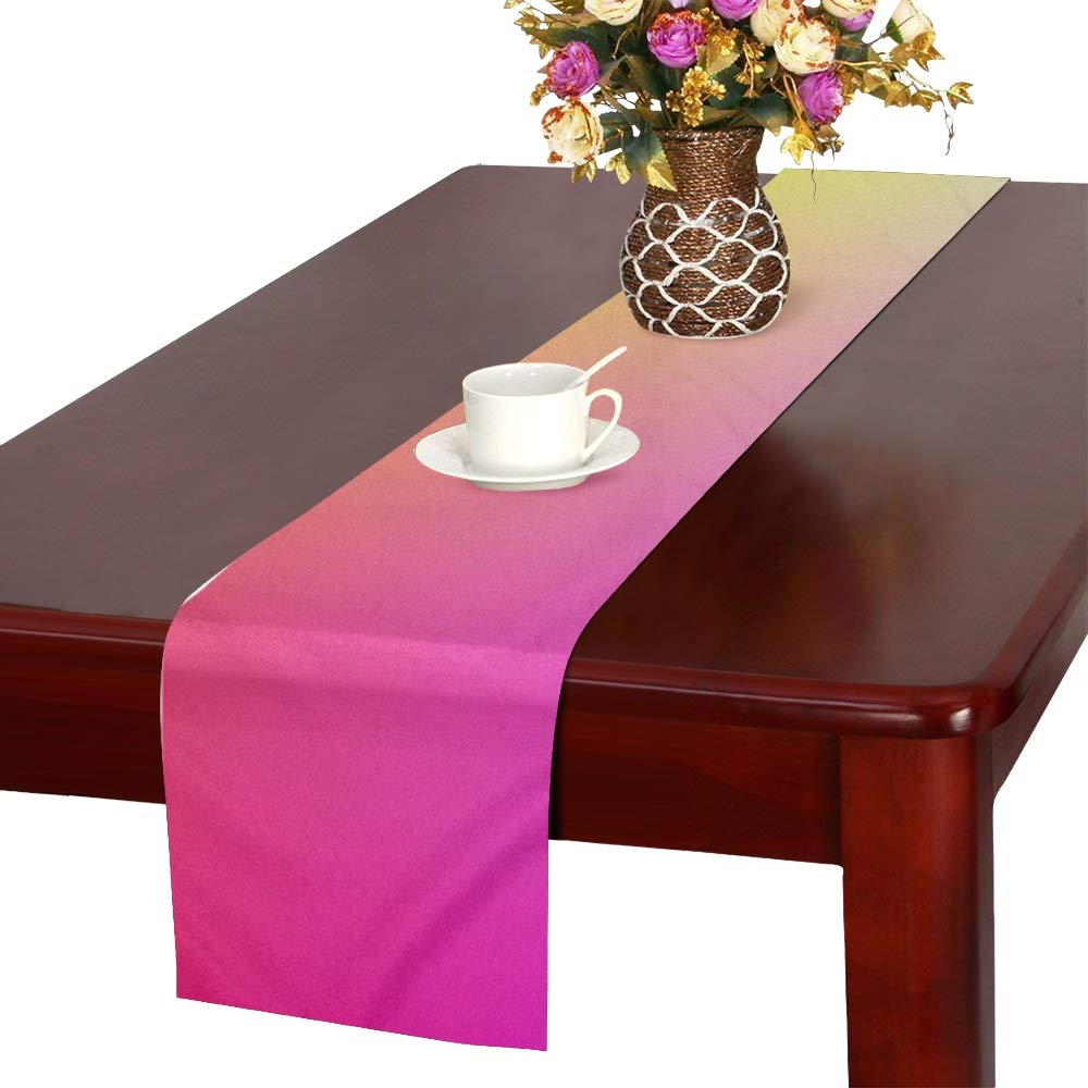 Course Gradient Colorful Color Table Runner, Kitchen Dining Table Runner 16 X 72 Inch For Dinner Parties, Events, Decor