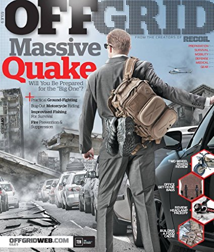 OFFGRID MAGAZINE #9 2015, MASSIVE QUAKE. for sale  Delivered anywhere in USA