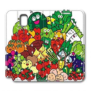 Samsung Galaxy note3 leather case,A large collection of photos of vegetables Custom design high-grade leather, leather feel will never fade