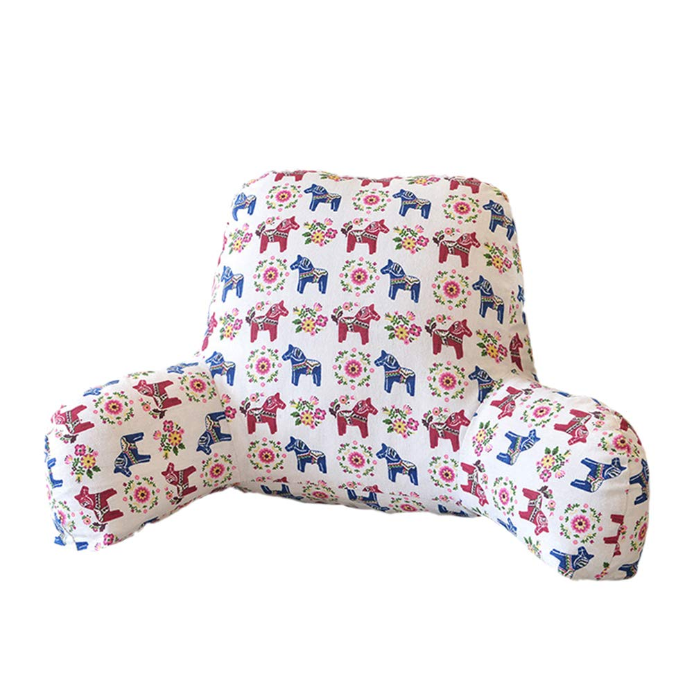 A Sea of Whales Backrest Reading Cushion Pillow with Arms Great Support for Reading Relaxing Watching TV Washable Removable Cover