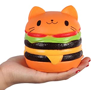 Amazon Com Anboor   Squishies Jumbo Slow Rising Kawaii Squishies Cat Hamburger Bread Toy For Collection Gift Toys Games