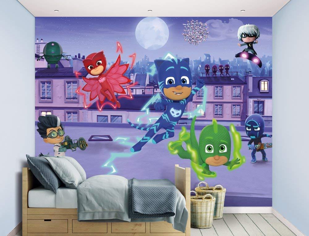Mural Walltastic PJ Masks Multicolor 243 cm x 304 cm