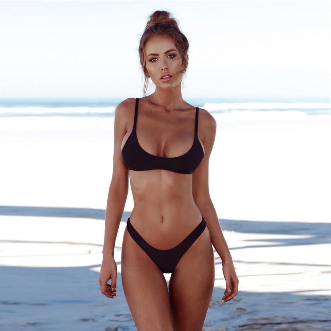 81f1d127e9 Amazon.com: Perman Women Sexy Solid Push-Up Padded Bikini Set Fashion Thong  Swimwear Swimsuit On Sale: Clothing