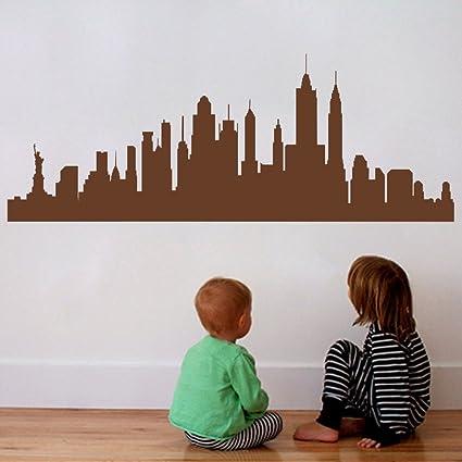 amazon com new york city skyline silhouette wall decal custom