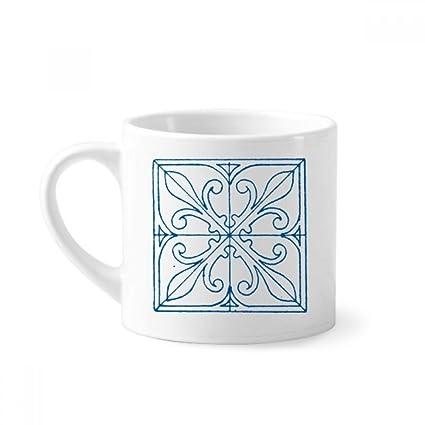 f7528160216 Amazon.com: Blue Talavera Style Pattern Decorative Mini Coffee Mug ...