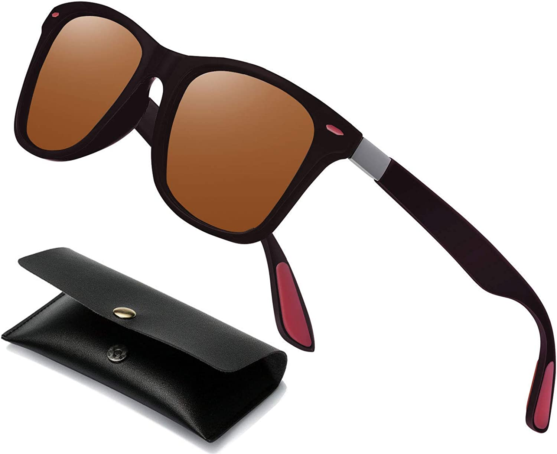 Perfectmiaoxuan Gafas de sol polarizadas Hombre Mujere Retro/Aire libre Deportes Golf Ciclismo Pesca Senderismo 100% protección UVA gafas unisex golf conducción Gafas gafas de sol