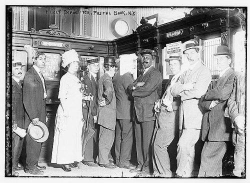 Photo  1St Depositor Postal Bank N Y  New York 1910 1915 People In Line