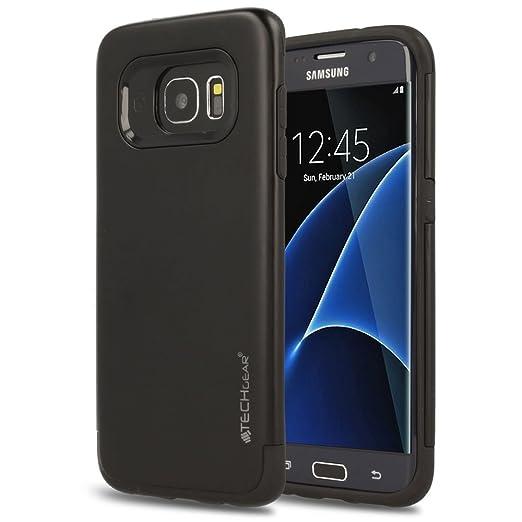 3 opinioni per Techgear® Samsung Galaxy S7Edge [Tough Armoured]–Cover, Custodia Doppio