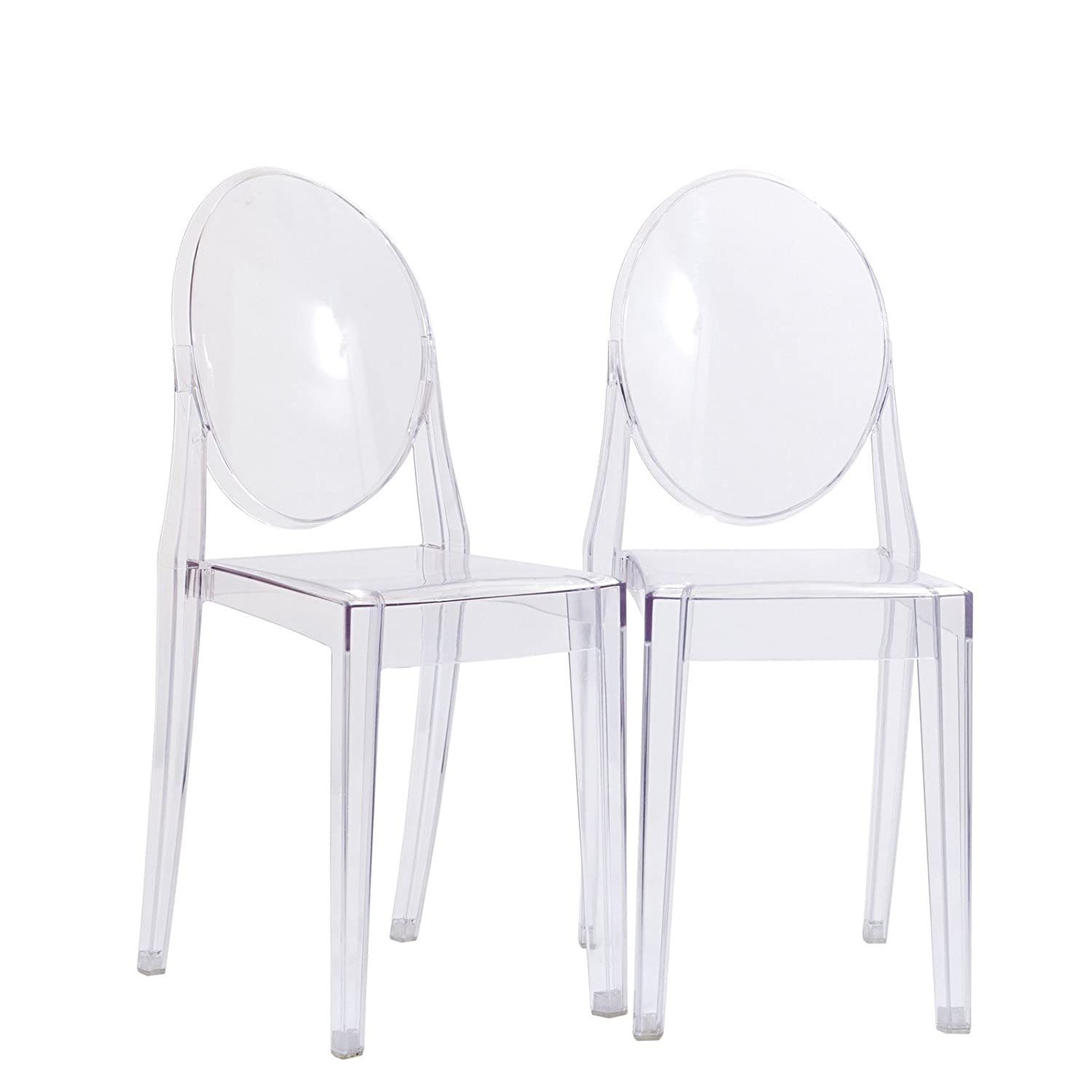 Poly and Bark Burton Side Chair in Clear Set of 2
