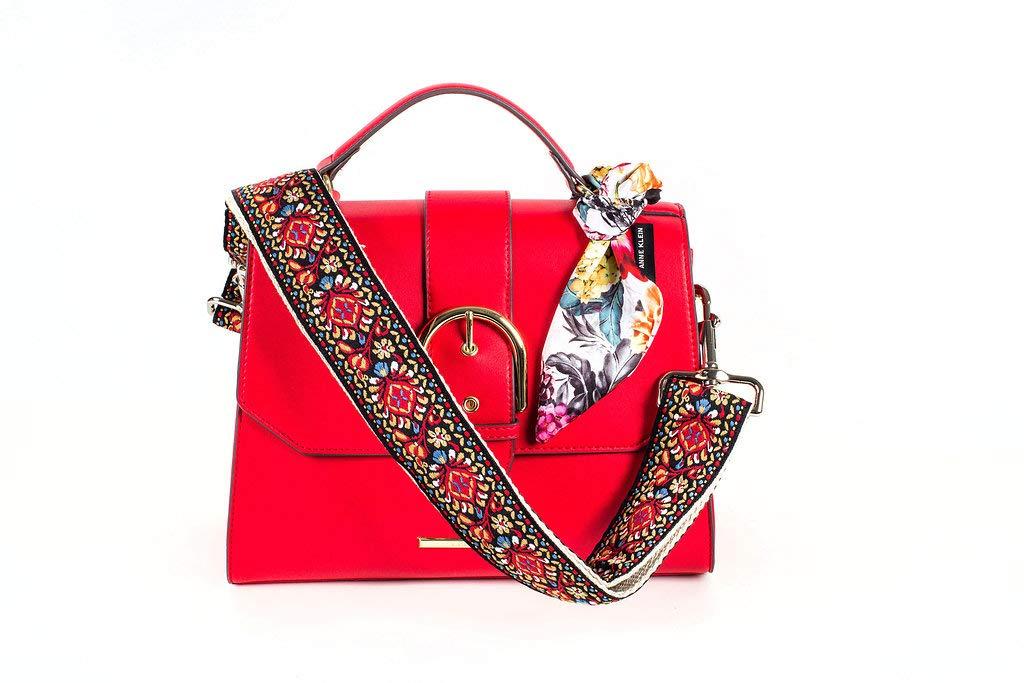 5e56ca509 Amazon.com | Red Vintage Handbag & Purse Strap Replacement - Jacquard Woven  Embroidered Guitar Strap Styled Shoulder Bag Strap - Adjustable Bag Strap  For ...