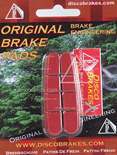 DiscoBrakes Shimano Dura-Ace Ultegra 105 Red Cartridge Insert Road Brake Pads ()
