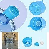 5PCS 55mm 3 & 5 Gallon Replacement Water Bottle Snap On Cap Anti Splash Peel 3 Piece