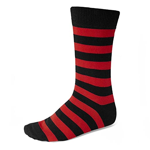 bf0a986da12 Image Unavailable. Image not available for. Color  Men s Red and Black  Striped Socks