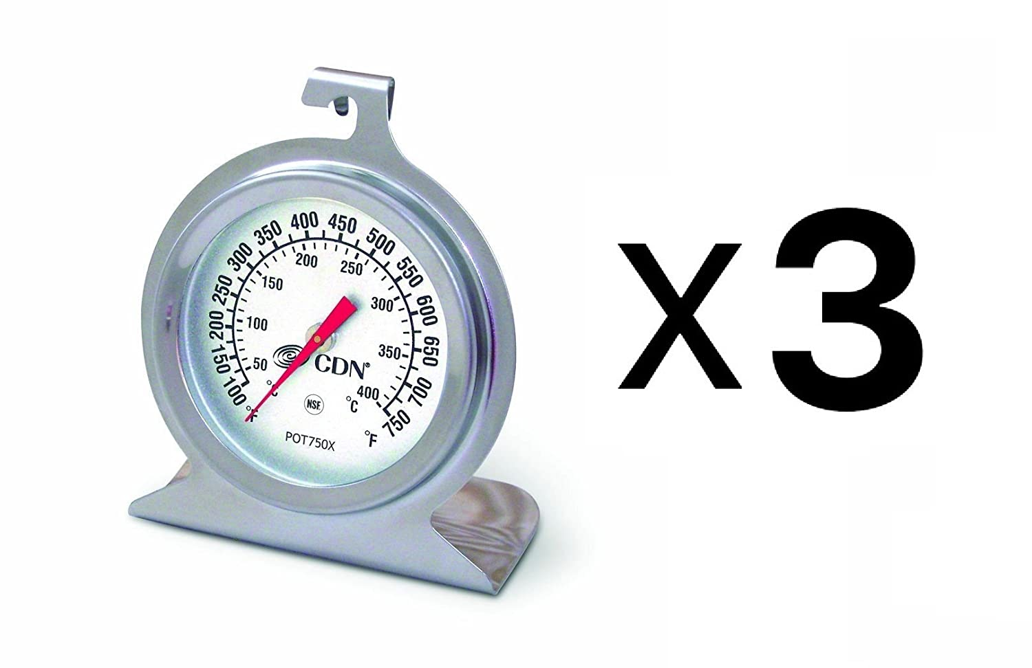 CDN POT750X High Heat Oven Thermometer (Pack of 3)