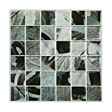Magictiles Self Stick Backsplash Black Tile Bathroom and Kitchen Wall Peel and Stick , 10'' x 10'' (30 Tiles)