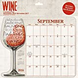 2017 Wine Calendar Pad - 12 x 12 by Trends International