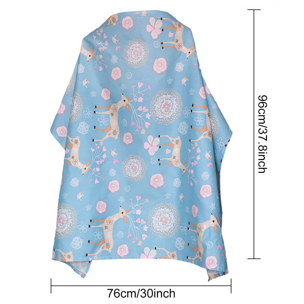 WENTS Capucha de lactancia con correa ajustable para la cubierta de privacidad de algod/ón transpirable de mam/á con lindos gr/áficos Cubierta de lactancia materna