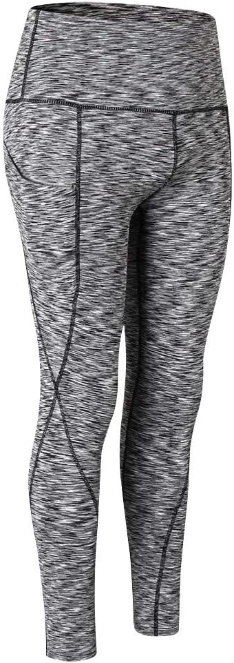 Soft YunZyun High Waist Yoga Pants Classic Design Pocket Yoga Pants Tummy Control Workout Running Stretch Yoga Leggings Blue, L