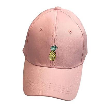 ❤️Amlaiworld Hombre mujer Gorra de béisbol Casual Sombreros de piña unisex Sombrero de punta ajustable Hip-Hop Niños niñas (Negro) qCPfplD