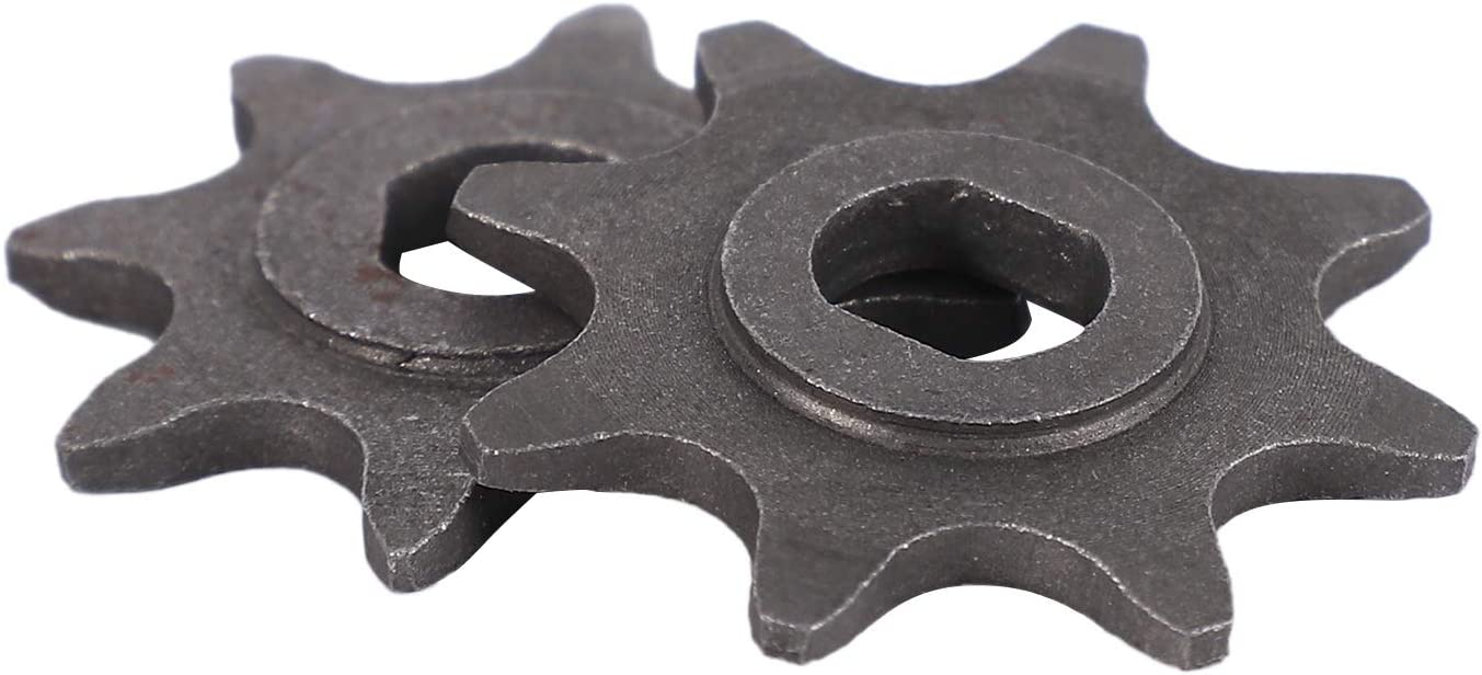 PQZATX Electric Scooter 8 Tooth Sprocket 410 Chain Motor 1//2Inch X1//8Inch Engine Chain Pinion 8T Gear for MY1020 Motor