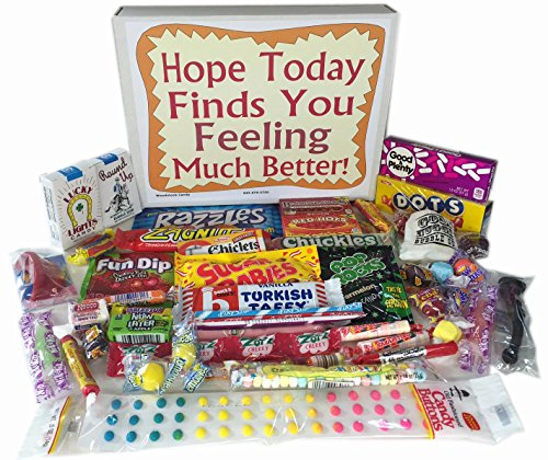 Woodstock Candy Feel Better Soon Care Package Gift Box of Retro Nostalgic Candy