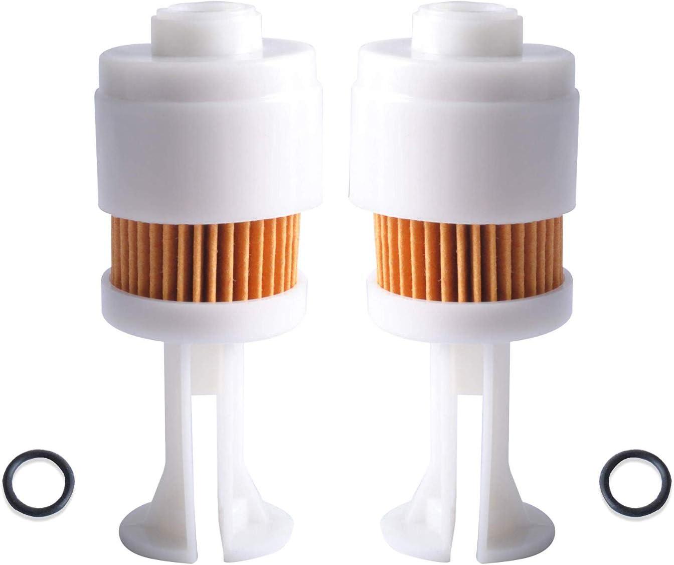 Poweka Fuel Filter for Yamaha 65L-24563-00-00 Suzuki 15412-93J00 Mercury Marine 35-888289T2 Johnson Evinrude OMC 5065695 Sierra 18-7936,Pack of 2