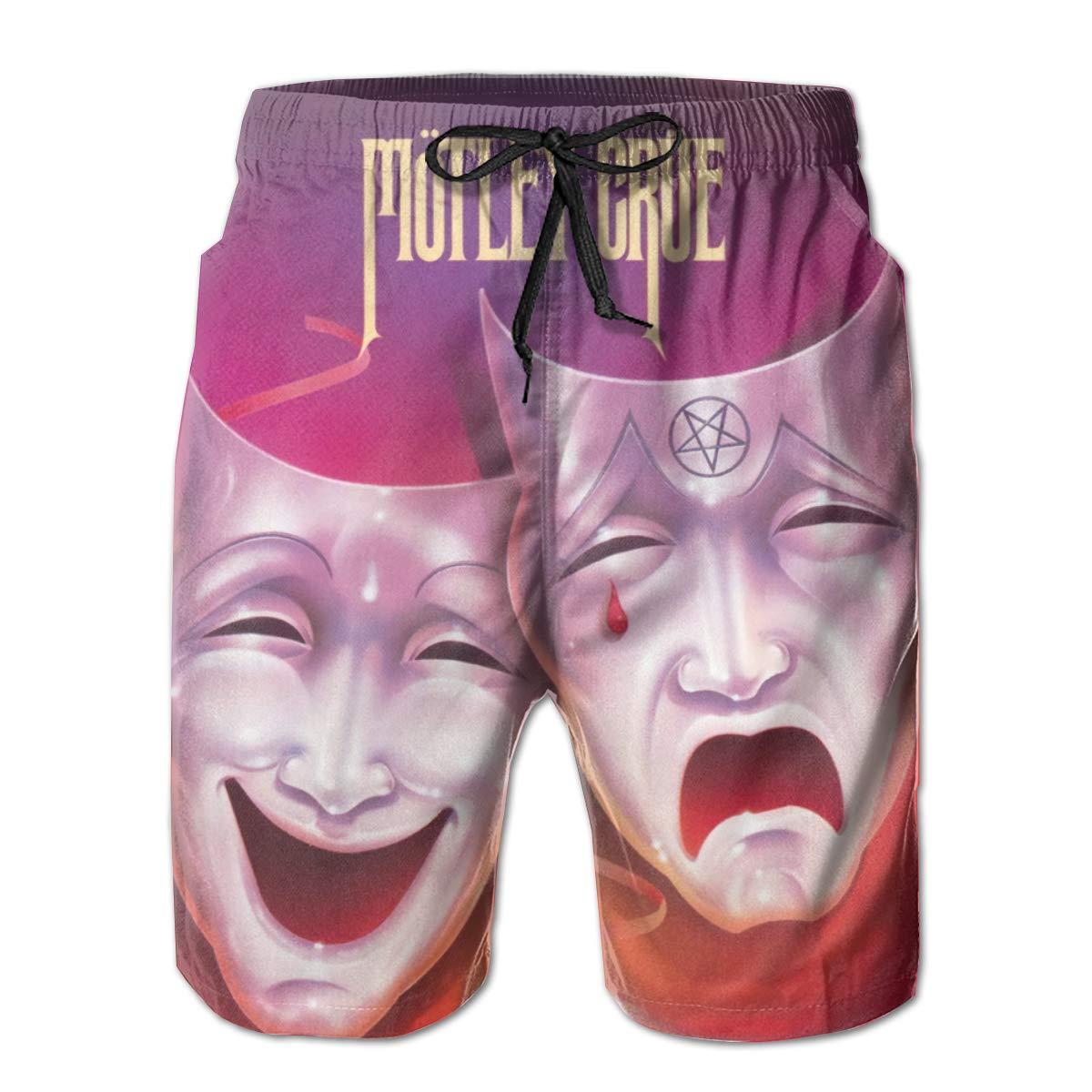 WangSiwe Motley Crue Theatre Pain 3D Printed Beach Trunks Board Shorts Casual Summer Swimwear Pants