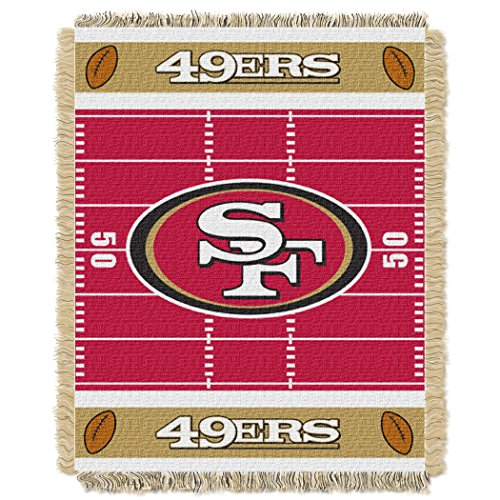 - 49ers OFFICIAL National Football League, Field Baby 36 x 46 Triple Woven Jacquard Throw