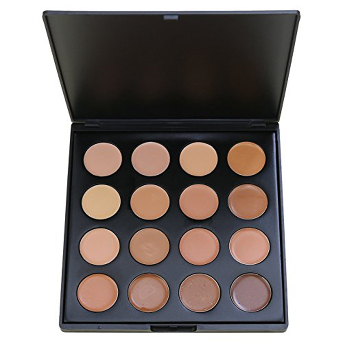 Face Base Foundation Palette, Vodisa 16 Color Natural Contouring Highlighter Kit Makeup Set, Cheek Foundation Makeup Blemish Pallet Beauty Cosmetics Make Up Bronze Contouring and Highlighting Pallet