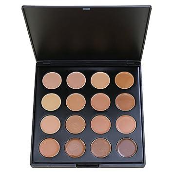 e2f32fed8764 Face Base Foundation Palette, Vodisa 16 Color Natural Contour Highlighter  Powder Kit Makeup Set,...