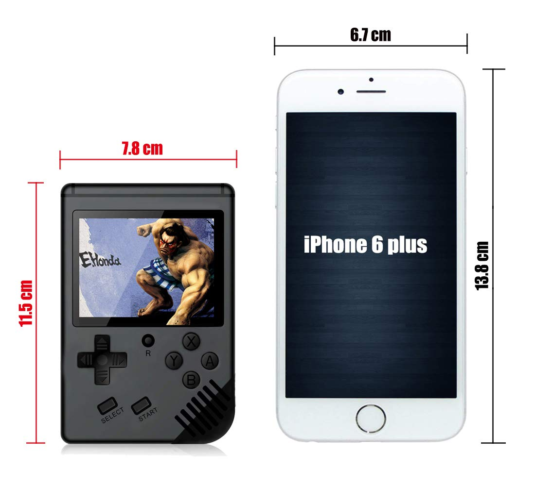 xinguo Handheld Game Console, Portable Game Console 3.0 Inch Screen with 313 Classic Games, Retro Game Console Can Play on TV, Good Gifts for Children. (Matte Black) by xinguo (Image #5)