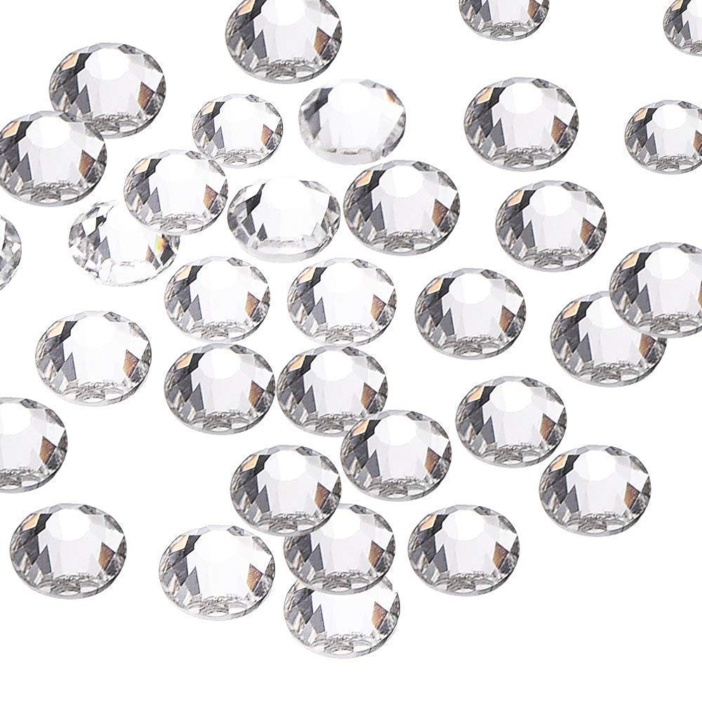 Beading Station 1440-Piece Flat Back Brilliant 14-Cut Round Rhinestones, 3mm-10ss, Clear 752264551759