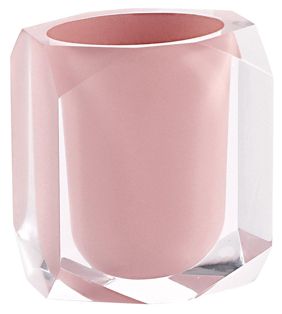 Gedy Chanelle portaspazzolini, resina, Rosa, 7x 9x 10,5 CH9810