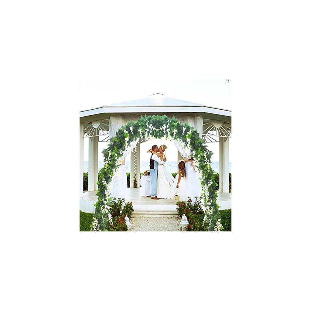 5-Strands-328-ft-Artificial-Silk-Wisteria-Vine-Ratta-Ivy-Garland-Wisteria-Artificial-Flowers-Hanging-Plants-Vines-Faux-Greenery-Fake-Green-Leaf-Garland-for-Wedding-Kitchen-Home-Party-Decor