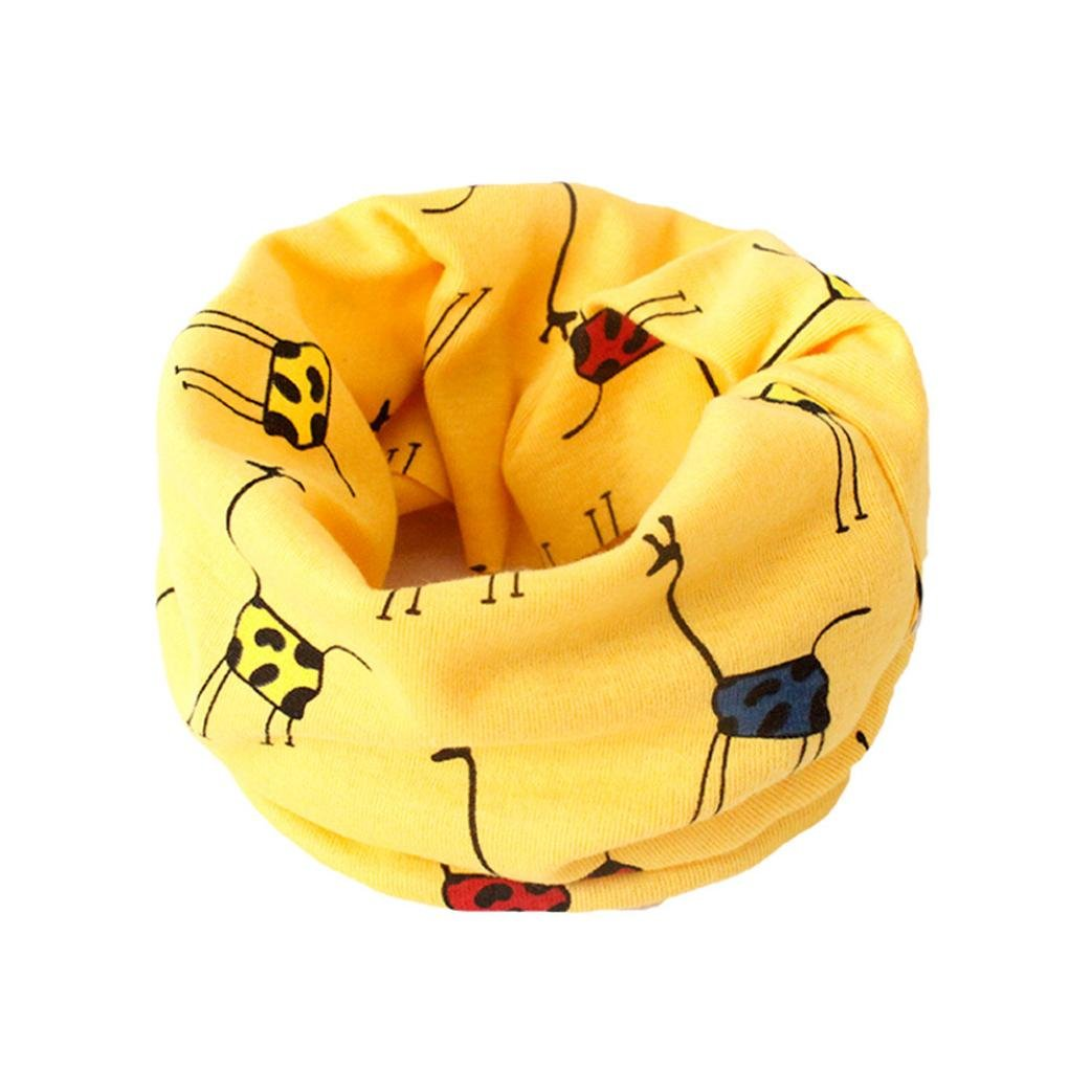 VENMO Cartoon Animals Print Baby Boys Girls Infinity Scarf Cotton Knitted O Ring Winter Neckerchief Scarves For 1-3T Toddlers